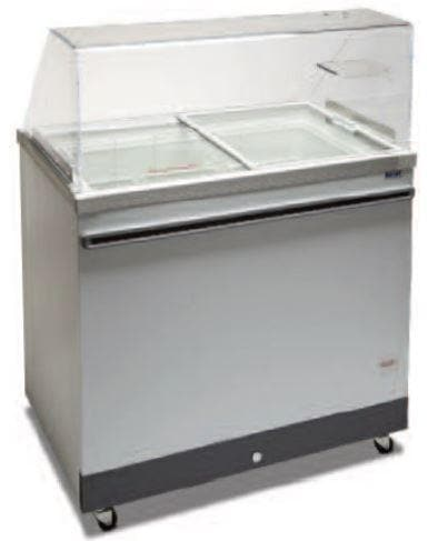 "Celco CF71SG 71"" Ice Cream Dipping Freezer - 12 Tub or 9 Gelato Pan Capacity - Omni Food Equipment"