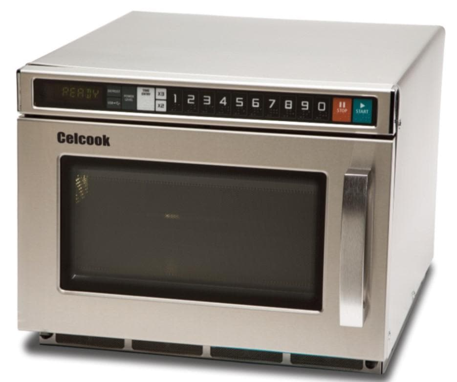 Celcook CCM2100 Compact Commercial Touchpad Microwave with Filter - 2100W - Omni Food Equipment