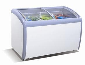 "Coolasonic 260Y Double Door 39"" Display Chest Freezer - Omni Food Equipment"