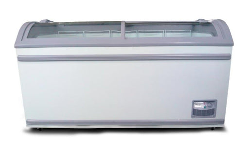 "Coolasonic 500Y Double Door 58"" Display Chest Freezer/Refrigerator - Omni Food Equipment"