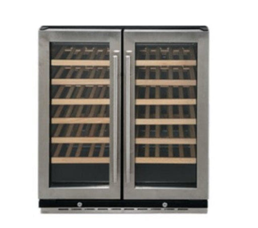 Coolasonic JC165D Double Swing Glass Door Commercial Under Counter Wine Cooler - Omni Food Equipment