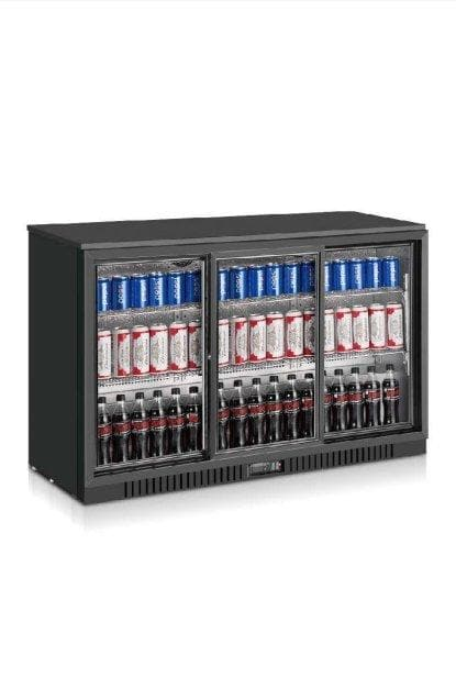 Coolasonic LG330S Triple Door Back Bar Cooler - Omni Food Equipment