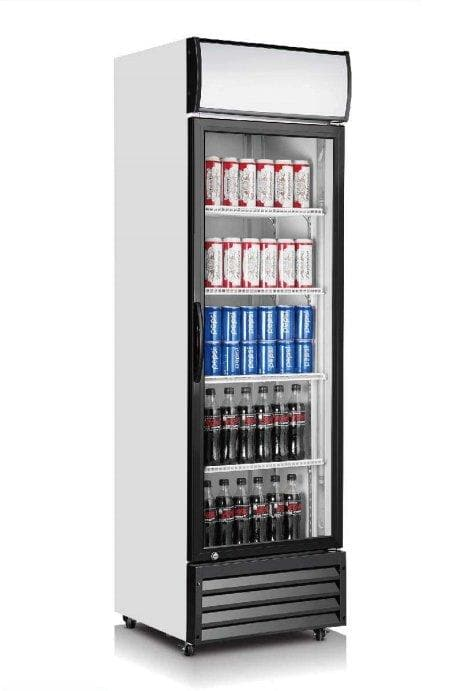 "Coolasonic P360WA Single Door 23"" Wide Display Refrigerator - Omni Food Equipment"