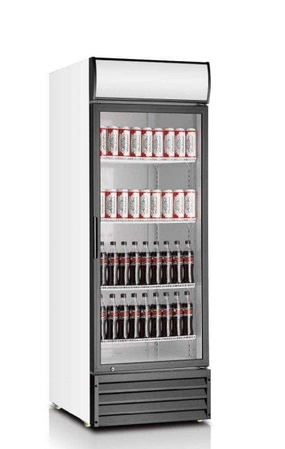 "Coolasonic P500WA Single Door 28"" Wide Display Refrigerator - Omni Food Equipment"