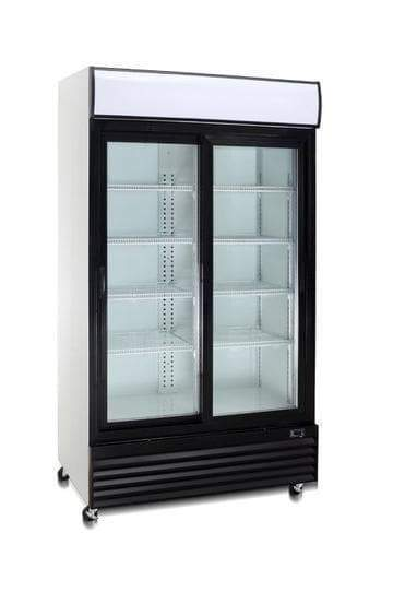 "Coolasonic P800WA Double Door 40"" Wide Display Refrigerator - Omni Food Equipment"