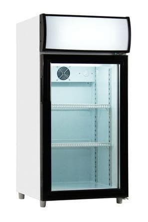 Coolasonic P80WA Single Door Display Counter Top Refrigerator - Omni Food Equipment