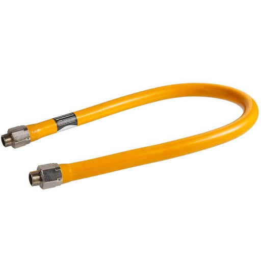 "Easy Flex EFGC-034-BJ-1414-36 Commercial 3/4"" Diameter Gas Hose - 36"" Length - Omni Food Equipment"