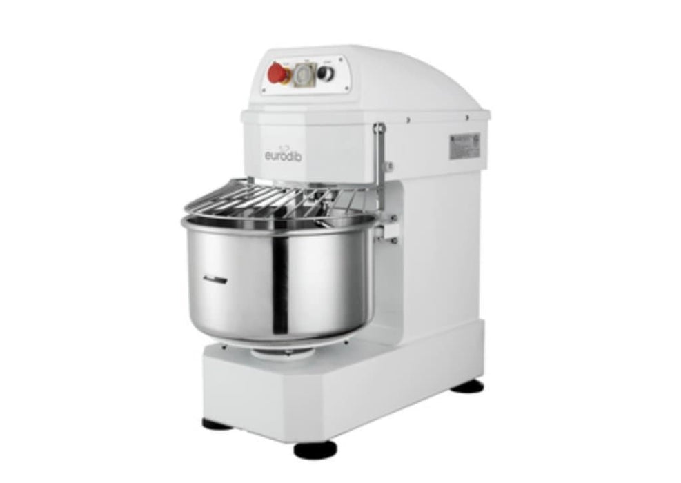 Eurodib LM20T Single Speed Commercial Spiral Mixer - 20Qt Capacity, Single Phase - Omni Food Equipment