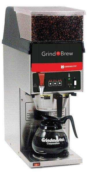 Grindmaster GNB-11H Grind and Brew Digital Coffee Brewer with 1 Bean Hopper, Single Warmer - Omni Food Equipment