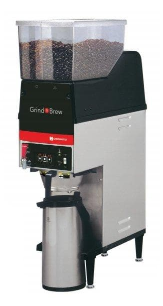 Grindmaster GNB-20H Grind and Brew Digital Coffee Brewer for Air Pot with 2 Bean Hoppers - Omni Food Equipment