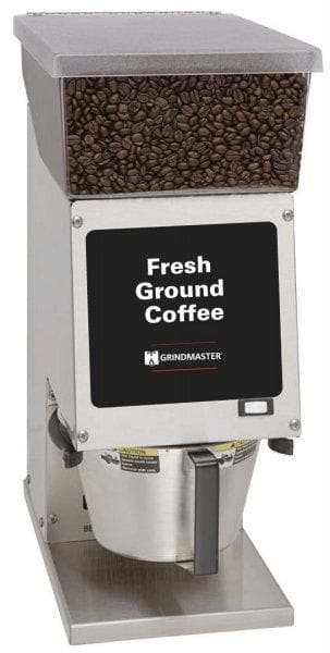 Grindmaster Model 100 Coffee Grinder for Brew Basket, 1 Bean Hopper - 6 LBS Hopper Capacity - Omni Food Equipment