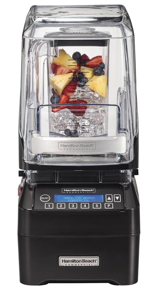 Hamilton Beach HBH750 The Eclipse Commercial Blender with Programmable Controls & Sound Enclosure – 48 Oz/1.4L Capacity, 3 HP - Omni Food Equipment