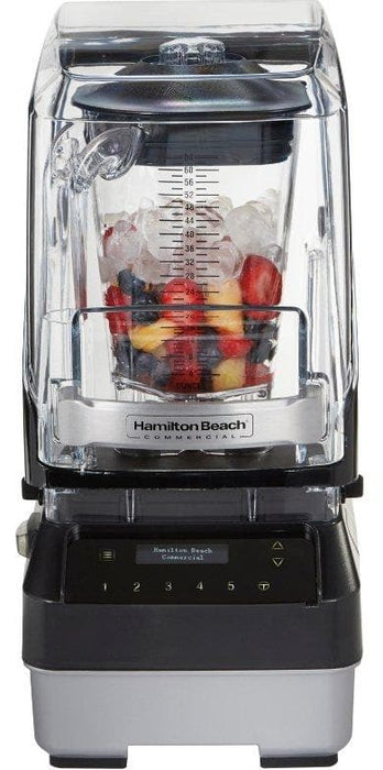 Hamilton Beach HBH950 The Quantum 950 Commercial Blender with Programmable Controls & Sound Enclosure - 64 Oz/2L, 3.5 HP Brushless Motor - Omni Food Equipment