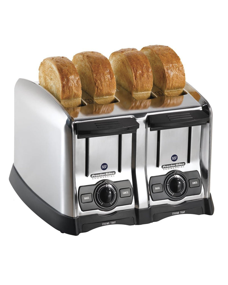 Hamilton Beach Model 24850 Commercial 4 Slot Pop-up Toaster - 150 Slices Per Hour, 120V - Omni Food Equipment