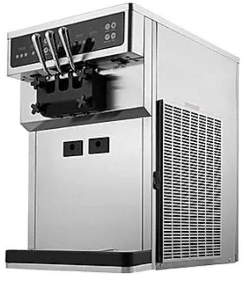 Icetro ISI-163TT/ST Double Flavour + Twist Soft Serve Ice Cream Machine with Heat Treatment - 52.9LBS/HR Output - Omni Food Equipment
