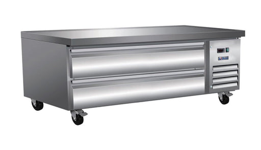 "Ikon ICBR62 Refrigerated 62"" Chef Base - Accommodates up to 4"" Deep Pans - Omni Food Equipment"
