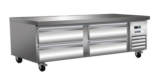 "Ikon ICBR74 Refrigerated 74"" Chef Base - Accommodates up to 4"" Deep Pans - Omni Food Equipment"