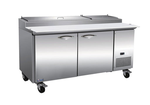 "Ikon IPP71 Double Door 71"" Refrigerated Pizza Prep Table - Various Configurations - Omni Food Equipment"