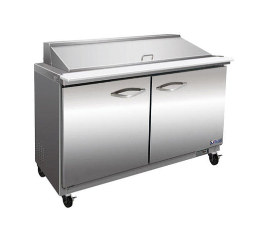 "Ikon ISP48M Double Door 48"" Refrigerated Mega Top Sandwich Prep Table - Various Configurations - Omni Food Equipment"