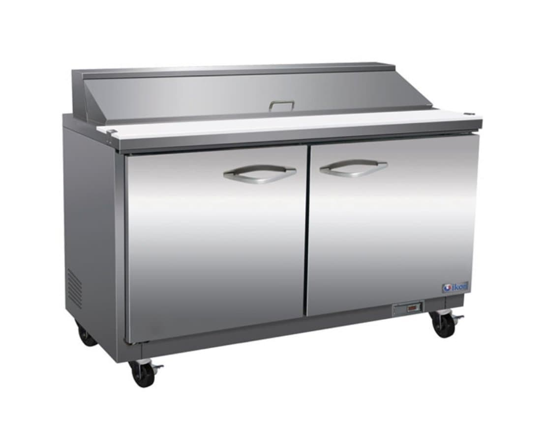 "Ikon ISP61 Double Door 61"" Refrigerated Sandwich Prep Table - Various Configurations - Omni Food Equipment"