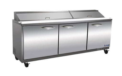 "Ikon ISP72 Triple Door 72"" Refrigerated Sandwich Prep Table - Omni Food Equipment"