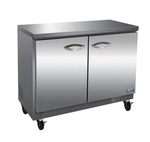 "Ikon IUC36R Double Door 36"" Refrigerated Work Table - Omni Food Equipment"