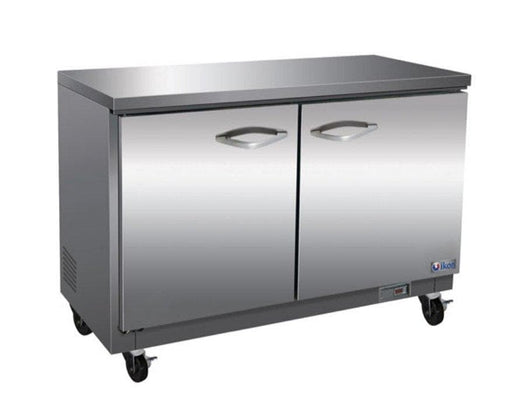 "Ikon IUC48R Double Door 48"" Refrigerated Work Table - Various Configurations - Omni Food Equipment"