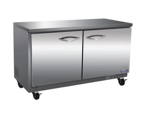 "Ikon IUC61R Double Door 61"" Refrigerated Work Table - Various Configurations - Omni Food Equipment"