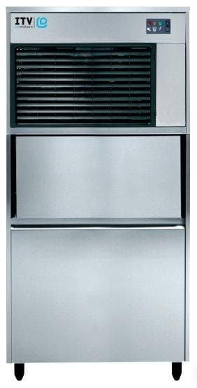 ITV IQ 300C Ice Machine, Flake Ice - 360LBS/24HRS, 132LBS Storage - Omni Food Equipment