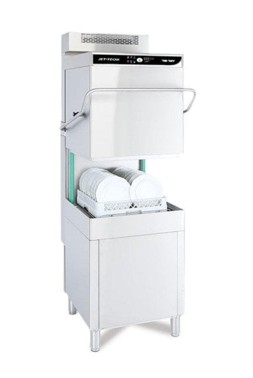 Jet-Tech 757EV High-Temp Hood Type Pass Through Dishwasher - Electronic Controls With Built-in Vent - Omni Food Equipment