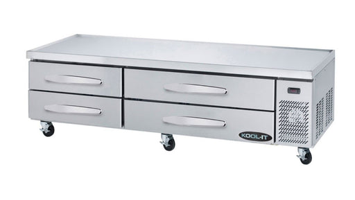 "Kool-It KCB-83-4M Refrigerated 83"" Chef Base - Accommodates up to 4"" Deep Pans - Omni Food Equipment"