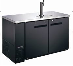 "Canco KR-2859S Commercial 60"" Double Swing Solid Door Keg Cooler"