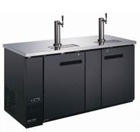 "Canco KR-2869S Commercial 72"" Double Swing Solid Door Keg Cooler"
