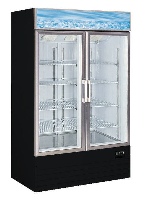 "Canco MF-830 Double Swing Door 48"" Wide Display Freezer"