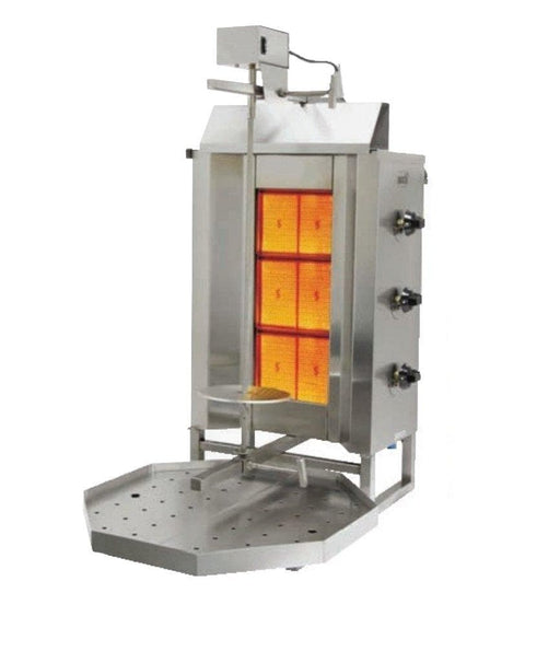 Omega 3GDU Natural Gas/Propane 3 Burner Shawarma/Doner Broiler - Omni Food Equipment