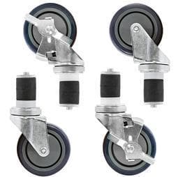 "Omega 4"" Casters For Stainless Steel Tables (Full Set) - Omni Food Equipment"