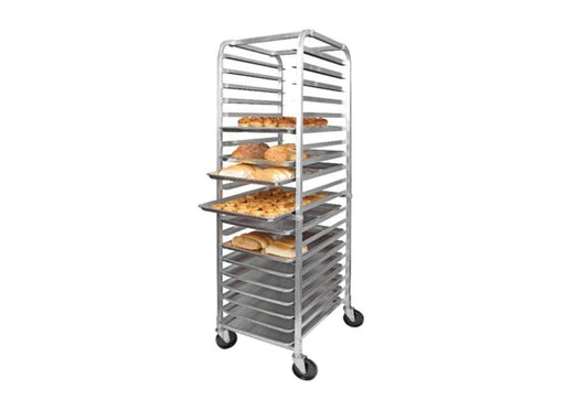 Omega ALRK-20 Aluminum WELDED 20-Tier Sheet Pan Rack W/ Brake, 3″ Spacing - Omni Food Equipment