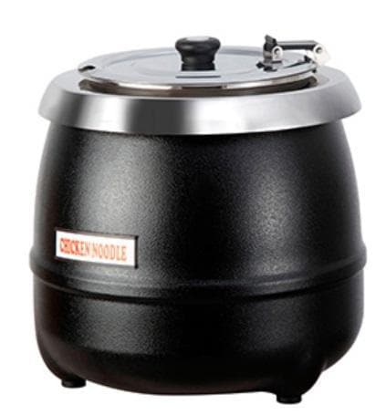 Omega AT51588 Black Steel 10L Electric Soup Kettle - Omni Food Equipment