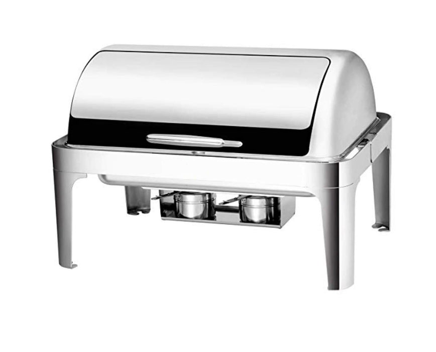 Omega AT61363-1 Deluxe Full Size Roll Top Stainless Steel Chafing Dish Set - Omni Food Equipment