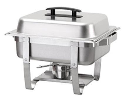 Omega AT762L63-1D Economy Half Size Stainless Steel Chafing Dish - Omni Food Equipment