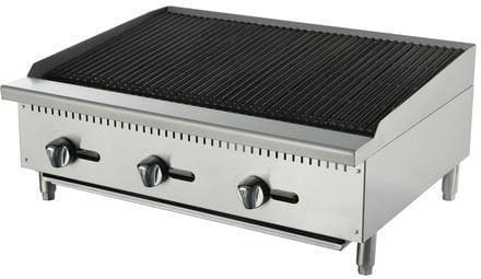 "Omega ATCB-36 Natural Gas/Propane 36"" Lava Rock Charbroiler - Omni Food Equipment"