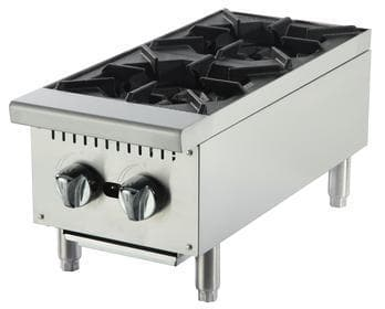 Omega ATHP-12-2 Natural Gas/Propane 2 Burner Hot Plate - Omni Food Equipment