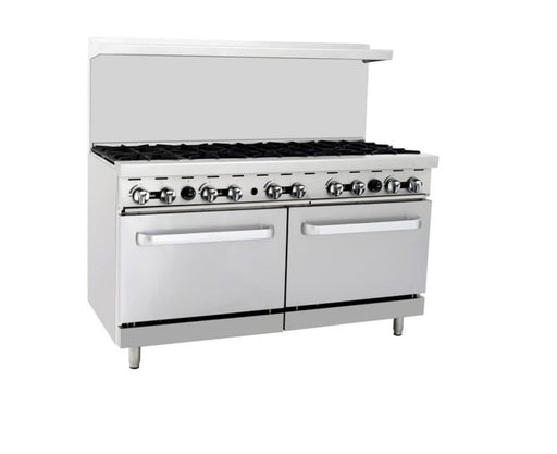 Omega ATO-10B Natural Gas 10 Burner Stove Top Range - Omni Food Equipment