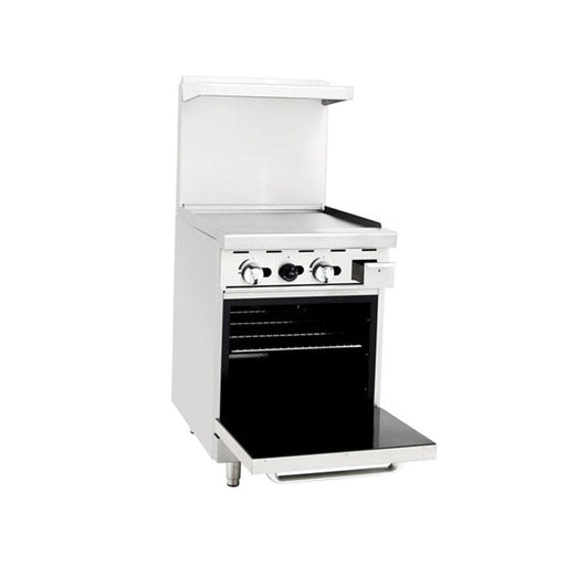 "Omega ATO-24G Natural Gas 24"" Griddle Stove Top Range - Omni Food Equipment"