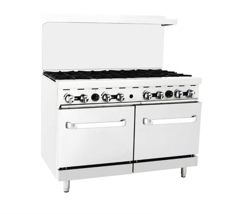 Omega ATO-8B Natural Gas 8 Burner Stove Top Range - Omni Food Equipment