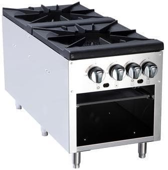 Omega ATSP-18-2 Natural Gas/Propane Double Burner Stock Pot Range - Omni Food Equipment