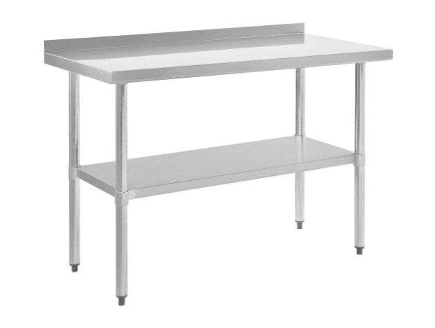 Omega ECONOMY 18 Ga. (1.2mm) Stainless Steel Work Tables - Various Sizes - Omni Food Equipment