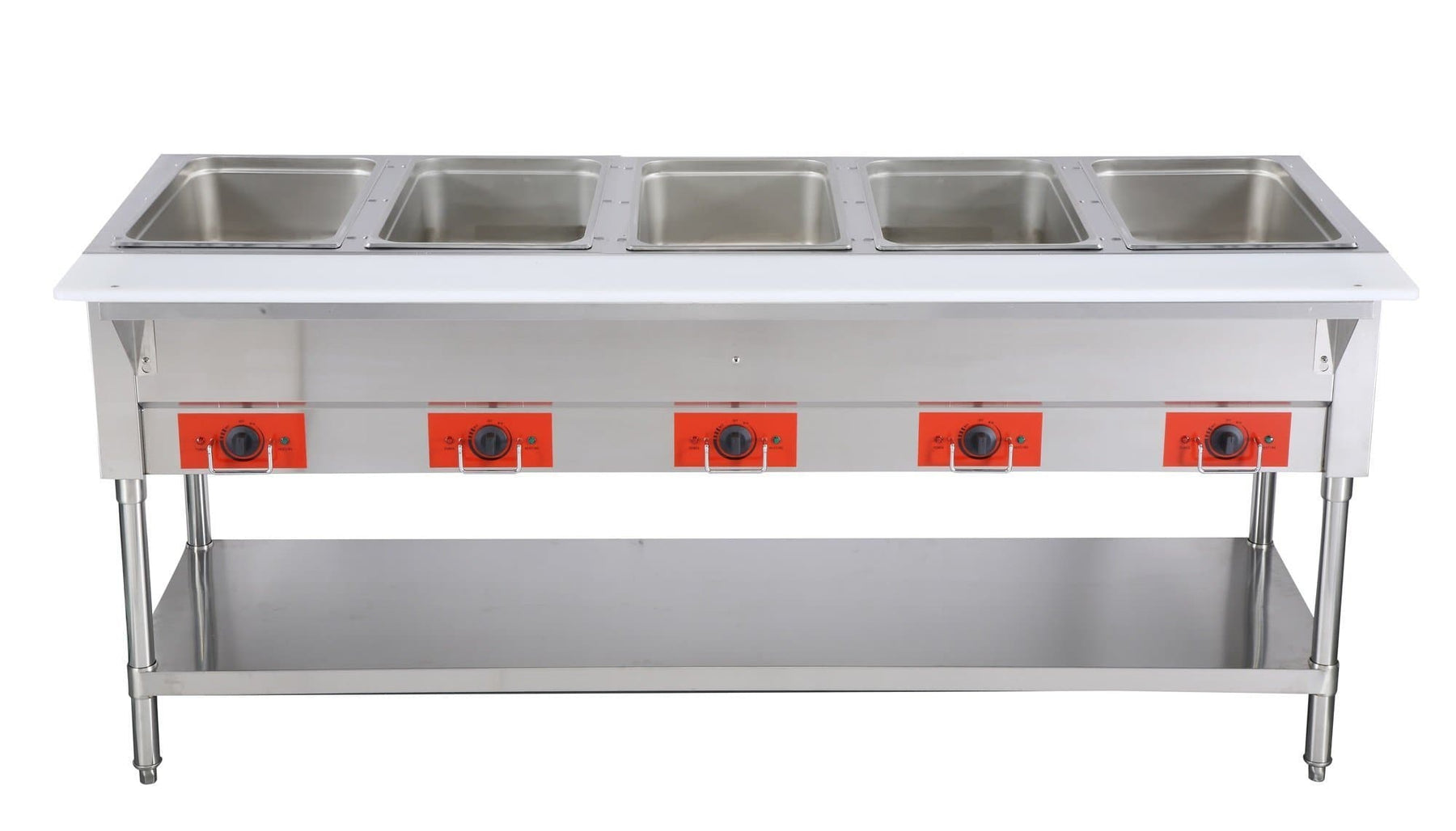 Omega FZ-06E Electric 5 Well Steam Table - 208-240V, NO WATER REQUIRED - Omni Food Equipment