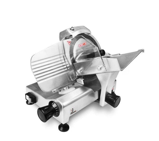 "Omega HBS-195JS Manual Aluminum Meat Slicer - 8"" Blade, 1/6 HP, Belt Drive - Omni Food Equipment"