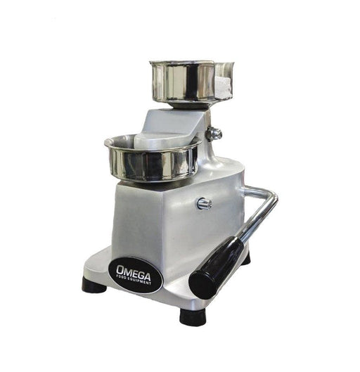 "Omega HF-100 Manual 100MM (4"") Hamburger Forming Machine - Omni Food Equipment"